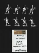 Alternative Armies 15mm Fantasy HOT39 Dwarf Knights with Poleaxe (x 8)